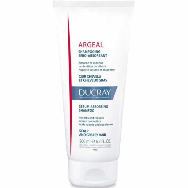 Ducray Argeal Oily Scalp and Hair Shampoo 200mL - Haut Boutique