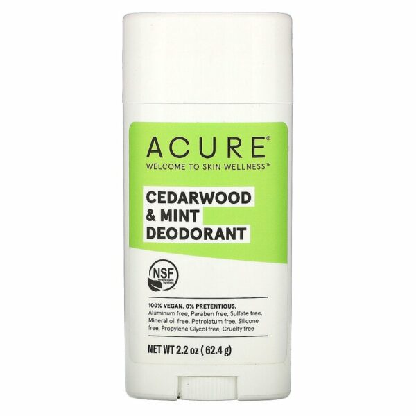 Acure Cedarwood and Mint Deodorant 62.4g - Haut Boutique