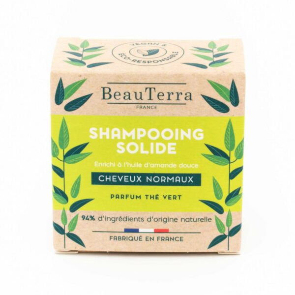 BeauTerra Shampooing Solide Cheveux Normaux